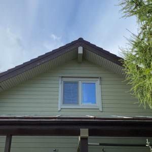 Timber House: attic window